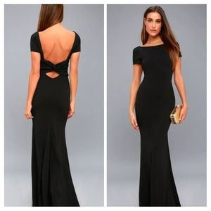Lulus Endless Love Black Backless Maxi Dress
